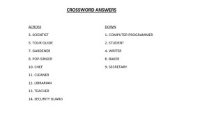 Croosword ansers